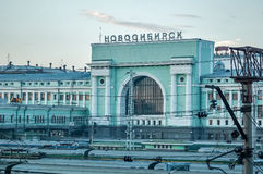 Σιδηροδρομικός σταθμός του Novosibirsk Στοκ Εικόνες