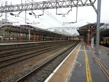 Σιδηροδρομικός σταθμός Crewe Αγγλία στοκ φωτογραφία με δικαίωμα ελεύθερης χρήσης