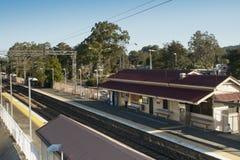 Σιδηροδρομικός σταθμός Landsborough στοκ εικόνα με δικαίωμα ελεύθερης χρήσης