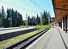 Σιδηροδρομικός σταθμός pleso Strbske Στοκ Φωτογραφία