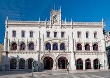 Σιδηροδρομικός σταθμός Rossio στη Λισσαβώνα Στοκ φωτογραφία με δικαίωμα ελεύθερης χρήσης