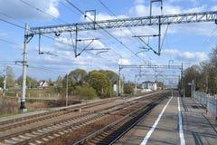 Σιδηροδρομικός σταθμός Sablino Στοκ Φωτογραφίες