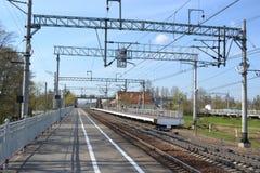 Σιδηροδρομικός σταθμός Sablino Στοκ Εικόνα