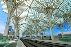 σιδηροδρομικός σταθμός &ta Στοκ εικόνες με δικαίωμα ελεύθερης χρήσης