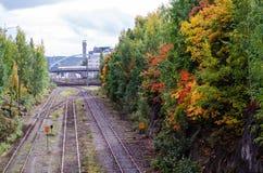 Σιδηρόδρομοι καρδιών της πόλης Στοκ Φωτογραφίες