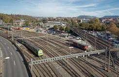 Σιδηρόδρομοι στη Βέρνη Στοκ Φωτογραφία