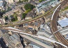 Σιδηρόδρομοι στο Λονδίνο Στοκ Φωτογραφίες