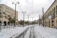 Σιδηρόδρομοι του τραμ της Ιερουσαλήμ Στοκ Εικόνα