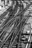 Σιδηρόδρομοι τραίνων Στοκ Φωτογραφίες