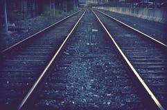 Σιδηρόδρομοι τραίνων Στοκ Φωτογραφία