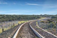 Σιδηρόδρομοι τραίνων Στοκ Εικόνα