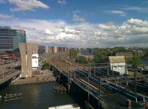 Σιδηρόδρομος Άμστερνταμ Κάτω Χώρες Στοκ Εικόνες