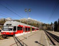 Σιδηρόδρομος βουνών, υψηλό Tatras, Σλοβακία Στοκ Φωτογραφία
