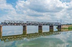 Σιδηρόδρομος γεφυρών μεταλλικός Στοκ Εικόνα