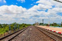 Σιδηρόδρομος για τη μεταφορά, σιδηρόδρομος μεταφορών Στοκ φωτογραφία με δικαίωμα ελεύθερης χρήσης