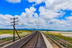 Σιδηρόδρομος για τη μεταφορά, σιδηρόδρομος μεταφορών Στοκ Φωτογραφίες