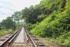 Σιδηρόδρομος θανάτου στην Ταϊλάνδη Στοκ εικόνα με δικαίωμα ελεύθερης χρήσης