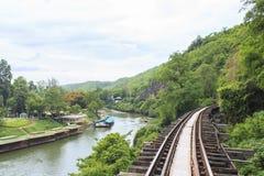 Σιδηρόδρομος θανάτου στην Ταϊλάνδη Στοκ εικόνες με δικαίωμα ελεύθερης χρήσης