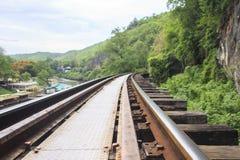 Σιδηρόδρομος θανάτου στην Ταϊλάνδη Στοκ Εικόνες