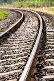 Σιδηρόδρομος κινηματογραφήσεων σε πρώτο πλάνο στο lumphun Ταϊλάνδη Στοκ Φωτογραφία
