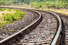 Σιδηρόδρομος κινηματογραφήσεων σε πρώτο πλάνο στο lumphun Ταϊλάνδη Στοκ εικόνα με δικαίωμα ελεύθερης χρήσης