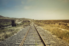 Σιδηρόδρομος με την ελαφριά διαρροή Στοκ Φωτογραφία