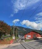 Σιδηρόδρομος ραφιών σιδηροδρόμων Rigi Στοκ Εικόνες