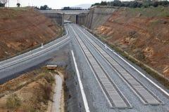 Σιδηρόδρομος στην κατασκευή Στοκ Εικόνες