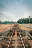 Σιδηρόδρομος στην πόλη Aso Στοκ φωτογραφία με δικαίωμα ελεύθερης χρήσης