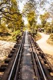 Σιδηρόδρομος στη ζούγκλα στοκ φωτογραφίες με δικαίωμα ελεύθερης χρήσης