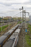 Σιδηρόδρομος στη Μόσχα Στοκ φωτογραφία με δικαίωμα ελεύθερης χρήσης