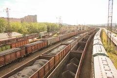 Σιδηρόδρομος στο Μούρμανσκ Στοκ Εικόνα