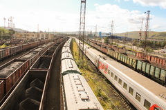 Σιδηρόδρομος στο Μούρμανσκ Στοκ Φωτογραφία