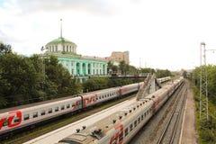 Σιδηρόδρομος στο Μούρμανσκ Στοκ εικόνες με δικαίωμα ελεύθερης χρήσης
