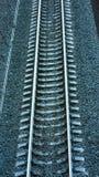 Σιδηρόδρομος στο σεληνόφωτο Στοκ εικόνα με δικαίωμα ελεύθερης χρήσης
