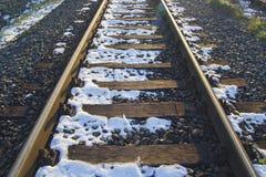 Σιδηρόδρομος τον Ιανουάριο Στοκ φωτογραφία με δικαίωμα ελεύθερης χρήσης