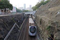 Σιδηρόδρομος του Χογκ Κογκ INTERCITY ΜΕΣΩ του ΤΡΑΙΝΟΥ στοκ φωτογραφίες