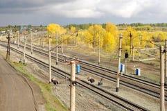 Σιδηρόδρομος το φθινόπωρο Στοκ φωτογραφία με δικαίωμα ελεύθερης χρήσης