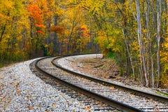 Σιδηρόδρομος φθινοπώρου στοκ φωτογραφία με δικαίωμα ελεύθερης χρήσης