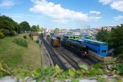 Σιδηρόδρομος Dorset UK σταθμών Swanage Στοκ φωτογραφία με δικαίωμα ελεύθερης χρήσης