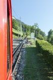 Σιδηρόδρομος Pilatus, Ελβετία Στοκ εικόνα με δικαίωμα ελεύθερης χρήσης