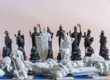 Σκάκι, ένα στρατηγικό παιχνίδι της κατάκτησης Στοκ εικόνα με δικαίωμα ελεύθερης χρήσης