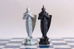 Σκάκι, ένα στρατηγικό παιχνίδι της κατάκτησης Στοκ Εικόνα