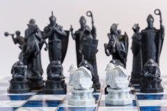 Σκάκι, ένα στρατηγικό παιχνίδι της κατάκτησης Στοκ Φωτογραφία