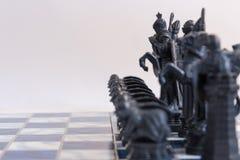 Σκάκι, ένα στρατηγικό παιχνίδι της κατάκτησης Στοκ φωτογραφία με δικαίωμα ελεύθερης χρήσης