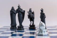 Σκάκι, ένα στρατηγικό παιχνίδι της κατάκτησης Στοκ Φωτογραφίες