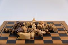Σκάκι, ένα στρατηγικό παιχνίδι της κατάκτησης Στοκ Εικόνες
