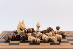 Σκάκι, ένα στρατηγικό παιχνίδι της κατάκτησης Στοκ φωτογραφίες με δικαίωμα ελεύθερης χρήσης
