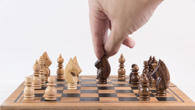 Σκάκι, ένα στρατηγικό παιχνίδι της κατάκτησης Στοκ εικόνες με δικαίωμα ελεύθερης χρήσης