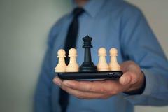 Σκάκι εκμετάλλευσης επιχειρηματιών Στοκ Εικόνες